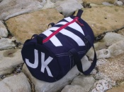 Seaview Navy blue canvas kit bags