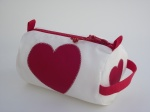 d)  Hearts on Wash Bags