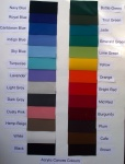 Acrylic Canvas Colour Chart