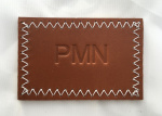 Personalised embossed leather wash bags